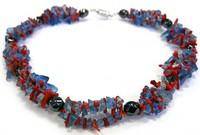 гематитовое ожерелье из коралла - камня Весов