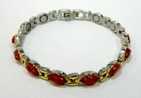 купить стальной браслет с красным ониксом - камнем Тельца