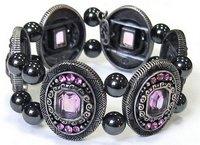 купить браслет Эмилия с розовым кварцем - камнем Тельца