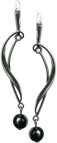 магнитные серьги из гематита - камня Скорпиона