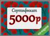Подарочный сертификат на сумму 5000 рублей